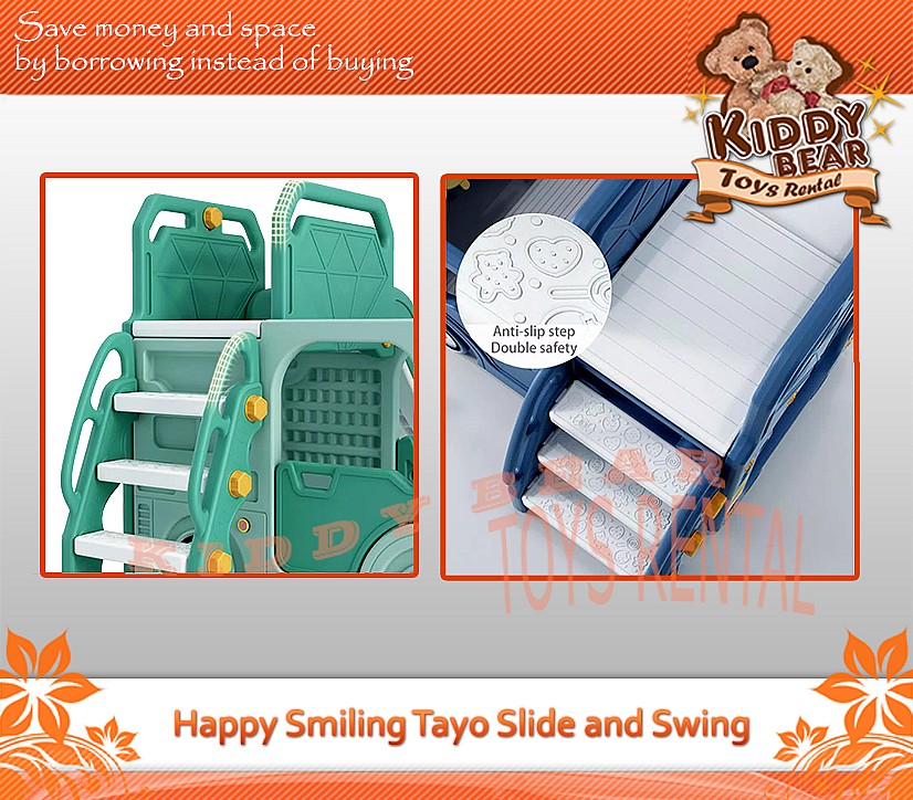 Happy Smiling Tayo Slide and Swing
